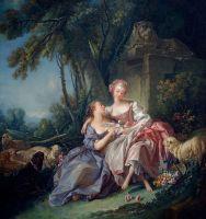 Любовная записка (1750) (81 х 75)  (Вашингтон, Нац.галерея).