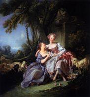 Любовная записка (1750) (81 х 75)  (Вашингтон, Нац.галерея)