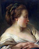 Голова девушки (1740-е - 1750-е) (36 x 28) (С-Петербург, Эрмитаж)