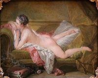 Отдыхающая одалиска (Портрет мадмуазель Луизы О'Мерфи) (1752) (59 ? 73) (Мюнхен, Старая Пинакотека)