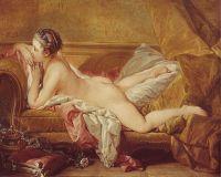 Отдыхающая одалиска (Портрет мадмуазель Луизы О'Мерфи) (1752) (59 ? 73) (Мюнхен, Старая Пинакотека).