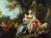 Любовная записка (мастерская Буше) (1754) (Лондон, Нац.галерея)