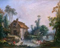Пейзаж с водяной мельницей (1755) (Лондон, Нац. галерея)