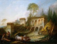 Мнимый Пейзаж с холмом Палатино, вид с Кампо Ваччино (1734) (Нью-Йорк, Метрополитен)