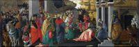 Поклонение волхвов (совместно с Филиппино Липпи) (1465-1467) (136 x 50) (Лондон, Нац.галерея)