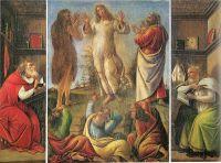 Преображение Господне со св.Иеронимом и св.Августином (ок.1500) (28 х 39) (Рим, галерея Паллавицини)