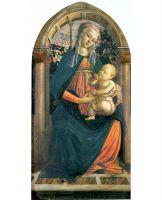 Мадонна в розовом саду (ок.1470) (65 x 124) (Флоренция, Уффици)