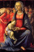 Мадонна с младенцем в окружении пяти ангелов (ок.1470) (40 x 58) (Париж, Лувр)