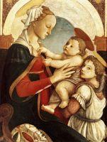 Мадонна с младенцем и ангелом (1465-1467) (87 х 60) (Флоренция, галл.дель Оспидаль дель Иннокенти)