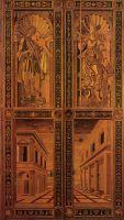 Двери (ок.1474) (364 x 210) (Урбино, палаццо Дукале)