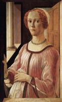 Портрет аристократки (ок.1471) (66 х 41) (Лондон, Музей Виктории и Альберта)