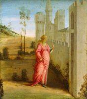 История Эсфири. Эсфирь у дворцовых ворот (1474-1475) (48,4 x 43,2) (Оттава, Нац.галлерея Канады)
