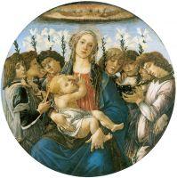 Мадонна с восемью ангелами (тондо Рацинского) (ок.1478) (135 x 135) (Берлин, Гос.музей)