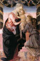 Мадонна с младенцем и ангелом (1467-1468) (110x70) (Аяччо, Музей искусства)
