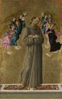 Св.Франциск и ангелы (ок.1475-1480) (Лондон, Нац.галерея)