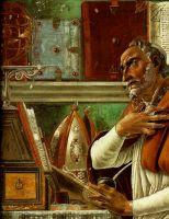 Св.Августин (ок.1480) (фреска) (152 x 112) (Флоренция, Огниссанти)_деталь