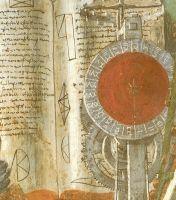 Св.Августин (ок.1480) (фреска) (152 x 112) (Флоренция, Огниссанти)_ деталь. Книга за головой