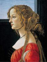 Портрет молодой женщины (после 1480) (48 x 35) (Берлин, Гос.музей)