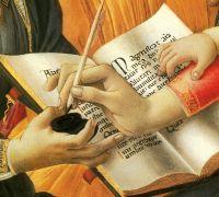 Мадонна 'Магнификат' (1480-1481) (118 см) (Флоренция, Уффици)_деталь