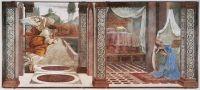 Благовещение (1481) (243 x 555) (Флоренция, Уффици)