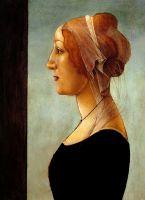 Портрет молодой женщины (ок.1482) (49.5 x 35,5) (частная коллекция)
