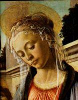 Мадонна с младенцем и двумя ангелами (ок.1468) (100 x 71)_деталь