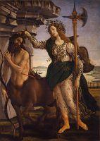 Паллада и кентавр (1482-1483) (205 х 147.5) (Флоренция, Уффици)