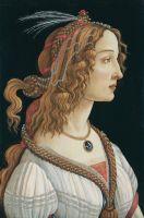 Портрет молодой женщины (1480-1485) (82 х 54) (Франкфурт, муз.Искусств)_