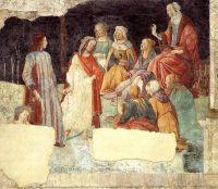 Семь свободных искусств приветствуют Лоренцо Торнабуони (фреска) (ок.1484) (238 х 284) (Париж, Лувр)