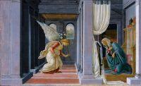 Благовещение (ок.1485) (19 х 31) (Нью-Йорк, Метрополитен)