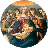 Мадонна с гранатом (делла Мелаграна) (ок.1487) (144 см) (Флоренция, Уффици)