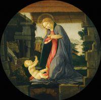 Поклонение Богоматери Младенцу Христу (ок.1490) (Вашингтон, Нац.галлерея)