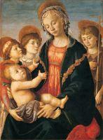 Мадонна с млад, двумя ангелами и юным Иоанном Крестителем (1465-1470) (64 x 85)