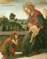 Мадонна с младенцем и св.Иоанном Креститителем (1491-1493) (46 x 37) (Токио, колл. Ишицука)