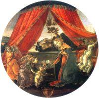 Мадонна с младенцем и тремя ангелами (ок.1493) (65 см) (Милан, Пинакотека Амброзиана)