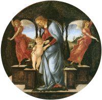 Мадонна с младенцем и двумя ангелам (ок.1493) (34 см) (Чикаго, Институт искусства)