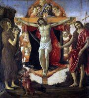 Св.Троица с Иоанном Крест. и Марией Магдал. + Товия и ангел (1491-1494) (215 x 192) (Лондон, галерея Курто)