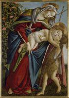 Мадонна с младенцем и юным Иоанном Крестителем (ок.1495) (134 x 92) (Флоренция, Палаццо Питти)