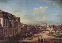Варшава,  дворец Любомирских и подъездная площадь, вид с запада (1779)