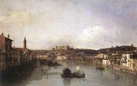 Вид Вероны и Реки Адидже с Нового моста (1747-1748)