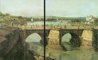 Вид Дрездена на Мост Августа, на заднем плане ландшафт Эльбы (1748)