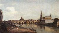 Вид Дрездена с правого берега Эльбы на Мост Августа (1748)