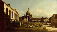 Вид Дрездена, Новый рынок со стороны Еврейского подворья (1751)