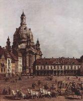 Вид Дрездена, Новый рынок со стороны Еврейского подворья. Деталь (1751)