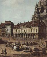 Вид Дрездена, новый рынок со стороны Моритцштрассе. Деталь (1752)