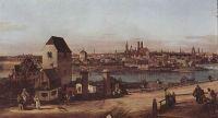 Вид Мюнхена, арочный мост через реку Изар, Мюнхен со стороны Гейдгаузена (1761)