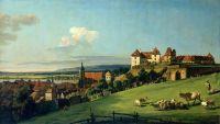 Вид Пирны со стороны замка Зонненштайн (1750)
