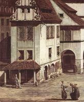 Вид Пирны, рыночная площадь в Пирне. Деталь (1754)
