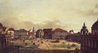 Внутренний двор Цвингера в Дрездене. Вид со стороны крепостных укреплений (1752)