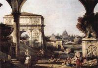 Римское каприччио, арка Тита (1747)
